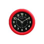 Luminous Noiseless Wall Clock 320mm (Red)