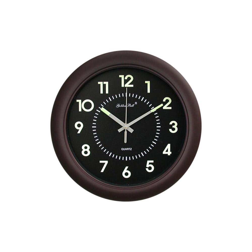 Luminous Noiseless Wall Clock 320mm (Brown)