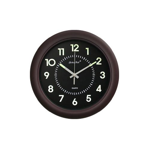 Luminous Noiseless Wall Clock 320mm (Brown) | clock,wall clock, time, digital