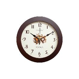 Rose Noiseless Wall Clock 310mm (Brown)