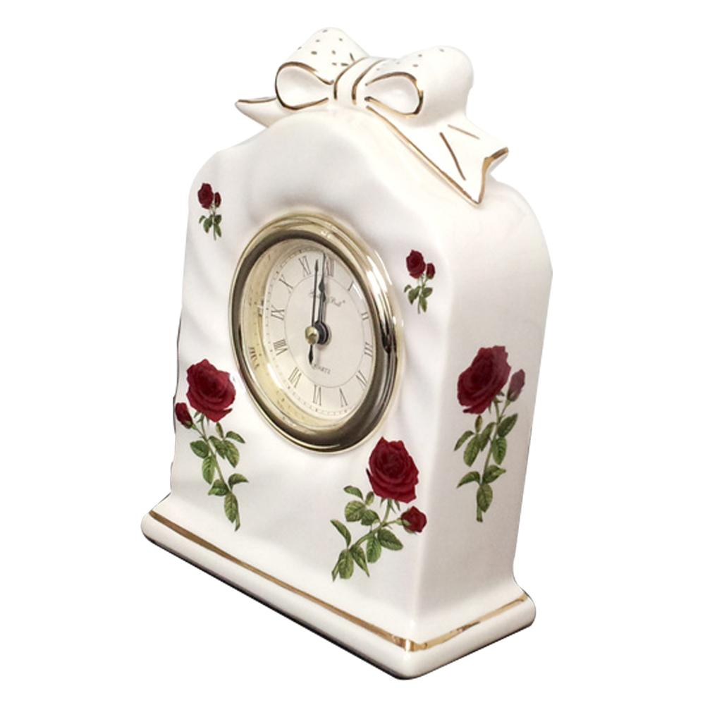 Ceramic Table Clock (3603 White)