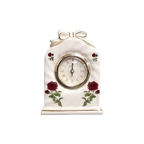 Ceramic Table Clock (3603 White) | clock,wall clock, time, digital