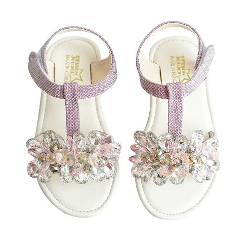 Flower Jewerly Sandal | shoes, sandal, footwear, LED boots, Besson Joujou, made in Korea, kids shoes, sneakers, comfortable, beautiful shoes, for girls and boys