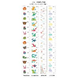 The Innovative and Multiple Memo Sheets(Growth Chart - Dianosaur)