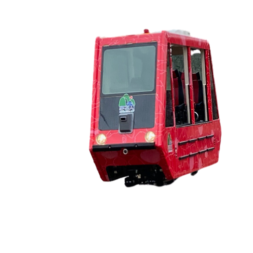 SMART MONORAIL Mountain type (eight-seater high-type) | MONORAIL, Electric battery monorail, Tour monorail, Electric monorail, Mungyeong Monorail, Smart monorail