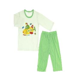 GOGO UNDER THE SEA; 3/4-sleeve Spring/Summer set, 100% natural cotton, Jacquard