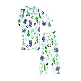 LITTLE DINO WORLD; 3/4-sleeve Spring/Summer set, 100% natural cotton, Jacquard