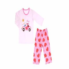 GOOD DAY MIMI; 3/4-sleeve Spring/Summer set, 100% natural cotton, Jacquard