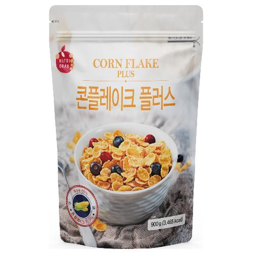 NUTRI GRAB Cornflake Plus 900g | Raison cereal Whole grain wheat and bran flake Breakfast Cereal Low fat cereal Bulk size