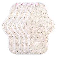 Hannahpad Reusable Cloth Menstrual Pads 5 Medium Pads