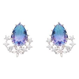 Wingbling Color Crystal Holiday Haze Stud Earrings 13740
