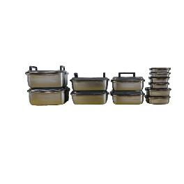 METALCOOK Metal Lock Container 12-Type Sets High-Quality Stainless-Steel Food Storage Integrated