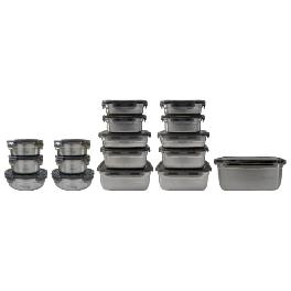 METALCOOK Metal Lock Container 17-Type Sets High-Quality Stainless-Steel Food Storage Various Sizes