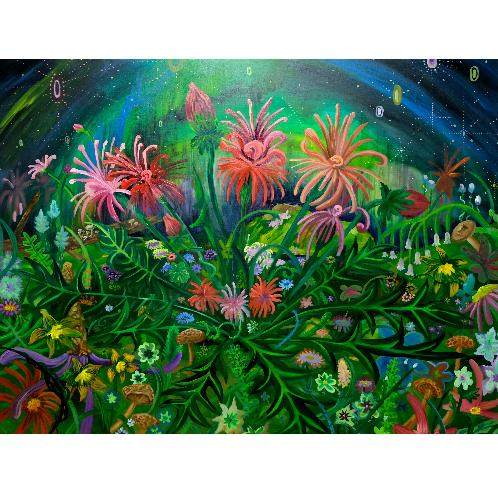 Fire works_Oh Seung kyung | Oh Seung kyung, painting, Flower