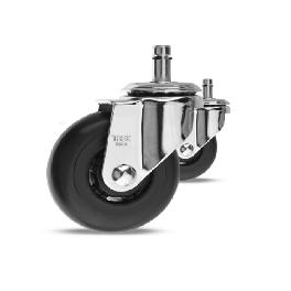 3inch Office Chair Casters for All Floors, High Elastic Urethane with Swivel Caster. G373S-6(A)