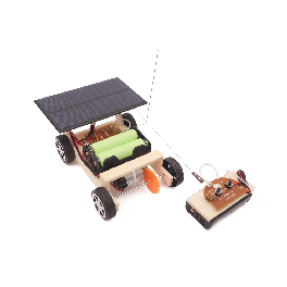 Toys Wooden Solar and Wireless Remote Control Car Robotics Creative Engineering Circuit Science Stem