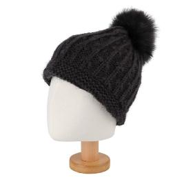 PAMPAS Winter Warmth Knitted Unisex Beanie With Fashionable Pom