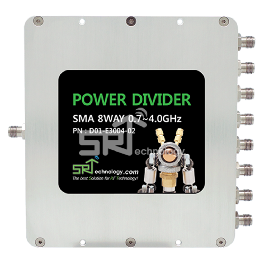 Power Divider, SMA 8Way 0.7~4.0GHz
